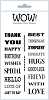 Mr Wow's Wonderful Words - Clear Stamp Set