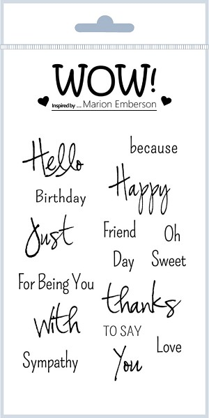 Just Saying (by Marion Emberson) - Clear Stamp Set