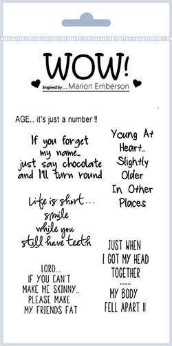 Young At Heart (By Marion Emberson) - Clear Stamp Set