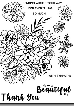 Beautiful  (By Marion Emberson) - Clear Stamp Set
